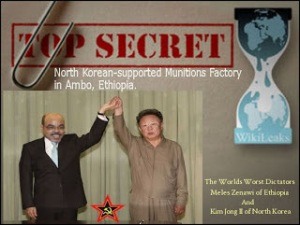Dictators Meles Zenawi of Ethiopia and Kim Jong II