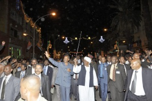 Isaias Afwerki with President Omar al-Bashir of Sudan