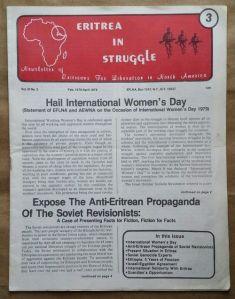 Eritrea in Struggle Newsletter