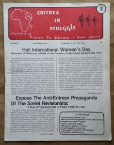 Eritrea in Struggle Newsletter