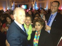 With Marilyn and Vice President Biden
