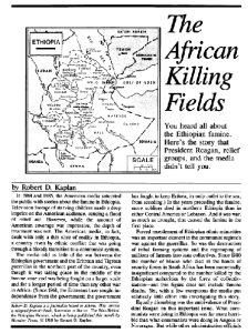 Ethiopia's Killing Fields-Robert Kaplan
