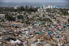 Dump landslide