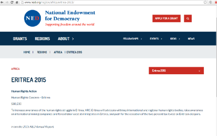 Elsa Chyrum and HRC received $80,230 from NED in 2015